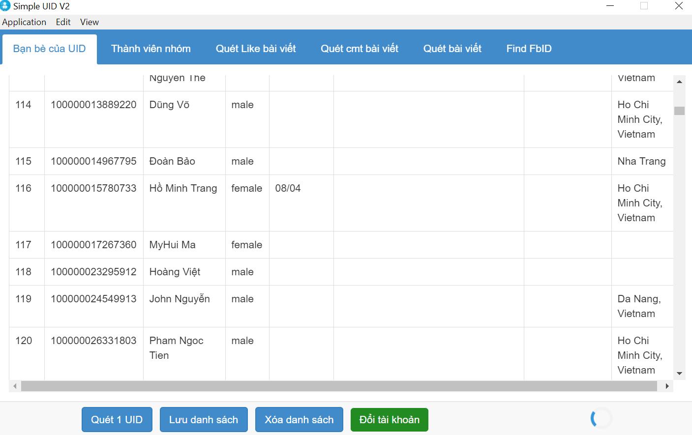 Phần mềm Simple UID