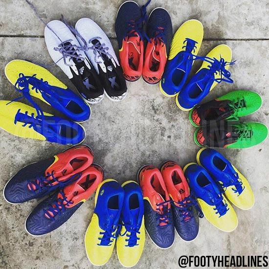 Lộ diện hình ảnh giày Adidas X 2016 Copa America Country Pack