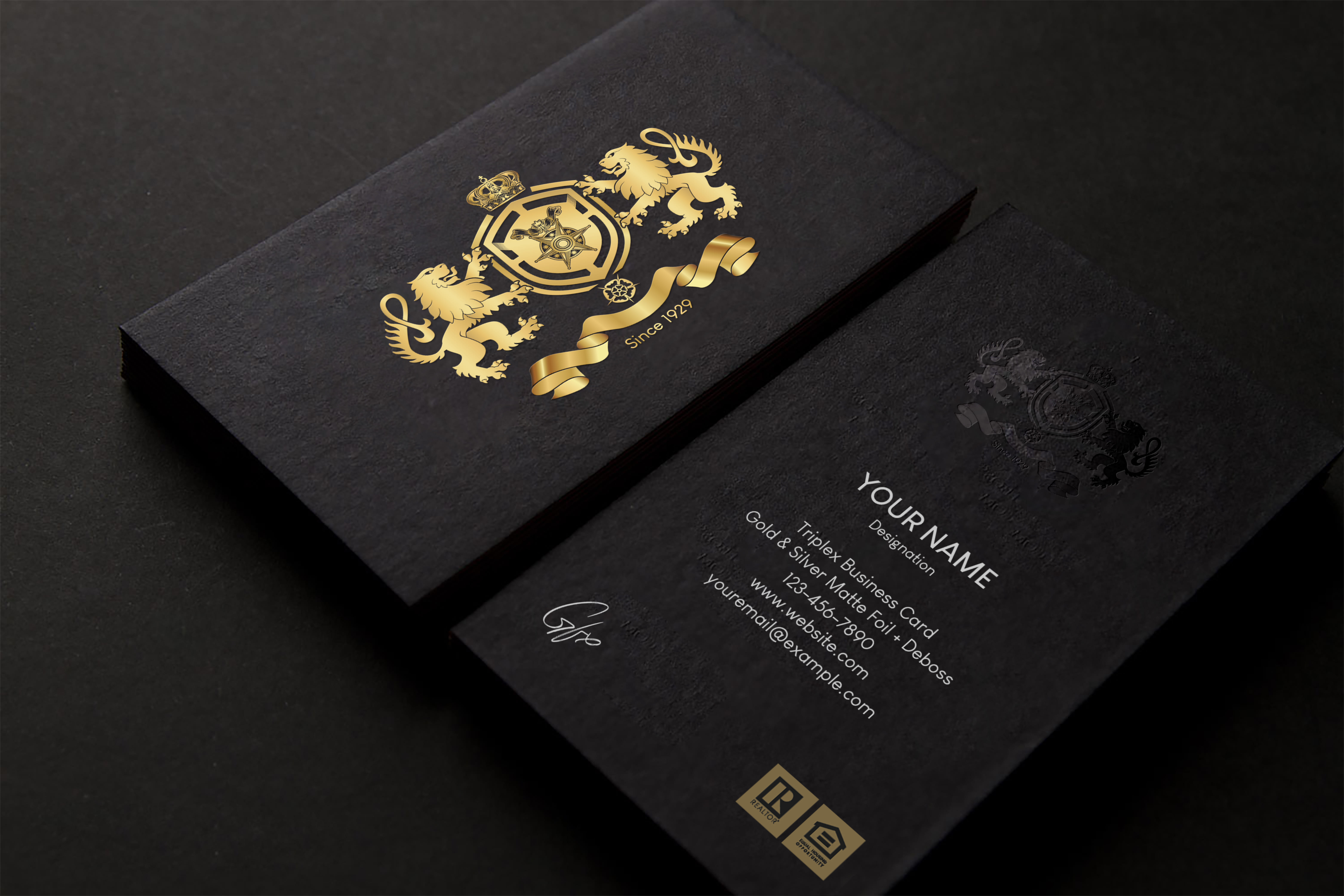 create 2 luxury business card design in just 12 hours